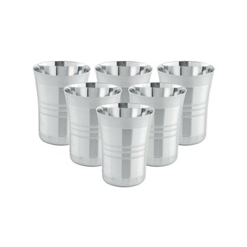 Picture of KINLEY GLASS CP - stainless steel water glass, set of 6 pcs - 250 ml each