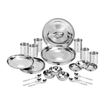 Picture of RAINBOW TOUCH 36 PC DINNER SET - stainless steel,dinnner set,thali set ,set of 36pc