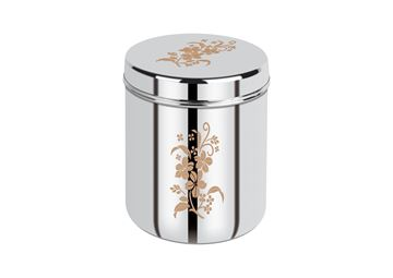 Picture of RATNA Stainless Steel Expo Floral Design Pc Dabba/storage Container