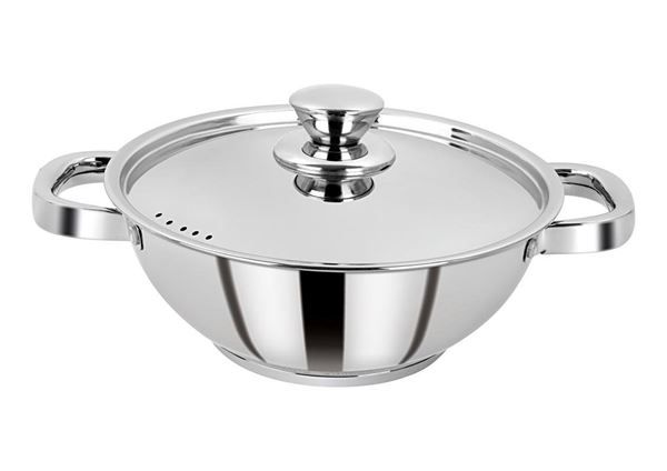 Picture of RATNA Induction, Impact Forged Bottom Cook & Serve Cookware, Kadhai, Kadai 20 cm-Works Perfectly on Gas, Induction Stove and Dishwasher Compatible, Capacity 1.3L